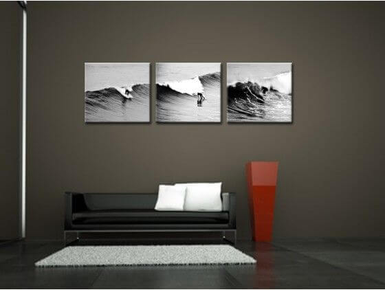 tableau triptyque surf petit prix achat de tableaux hexoa. Black Bedroom Furniture Sets. Home Design Ideas