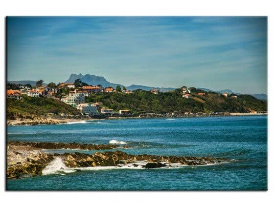 Tableau deco photo vue du Pays Basque