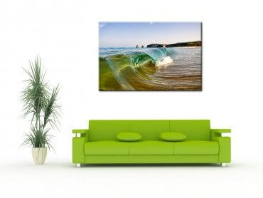 Tableau photo de paysage Hendaye mini vague