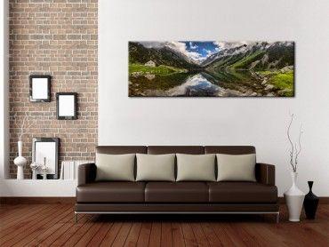 Tableau photo déco panorama sur montagne