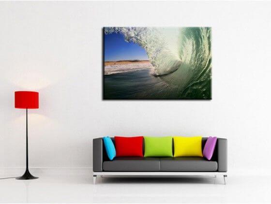 Tableau photo surf dans le tube landais