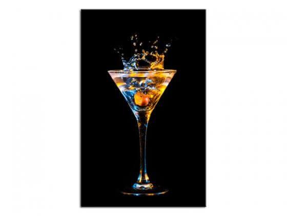 Tableau décoration murale verre de cocktail