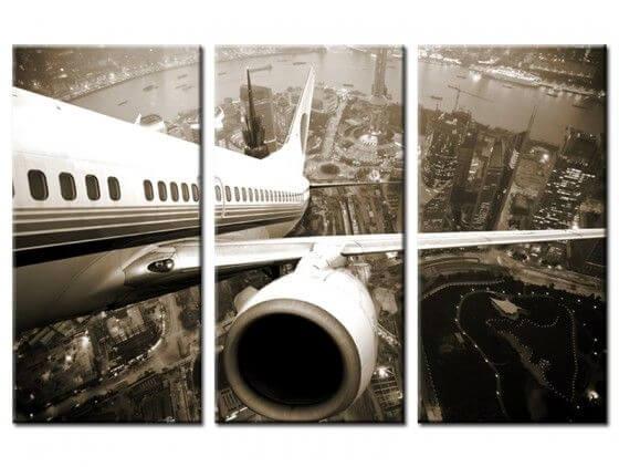 Tableau noir et blanc décollage