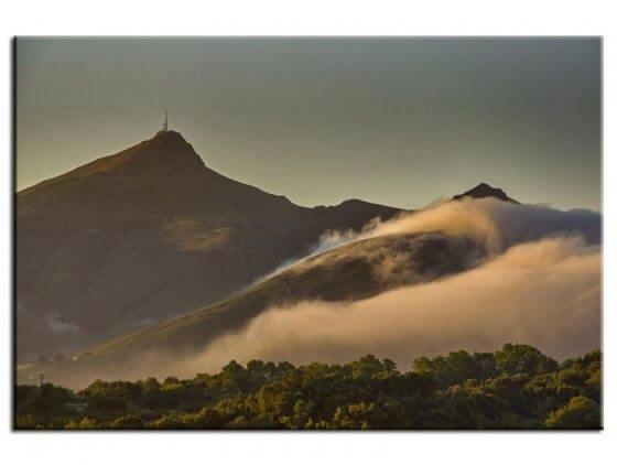 Tableau décoratif paysages la montagne de la Rhune