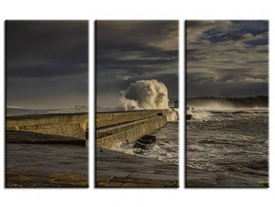Tableau déco tempête sur Socoa Pays Basque
