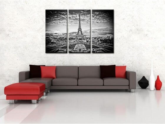 tableau paris moderne tour eiffel toile plexiglass et aluminium. Black Bedroom Furniture Sets. Home Design Ideas