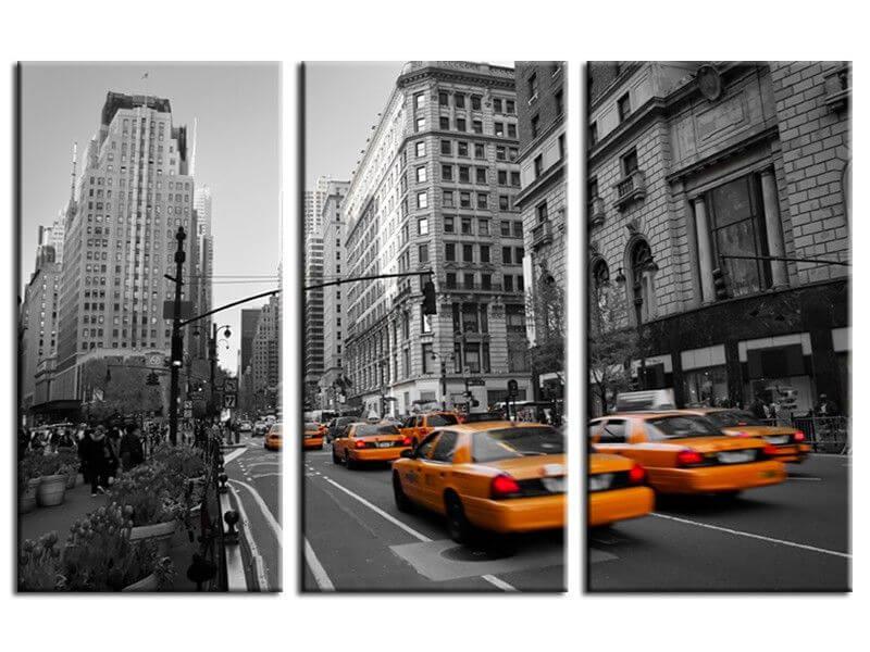 Tableau new york taxis design plexiglas aluminium et toile for Tableau plexiglass new york