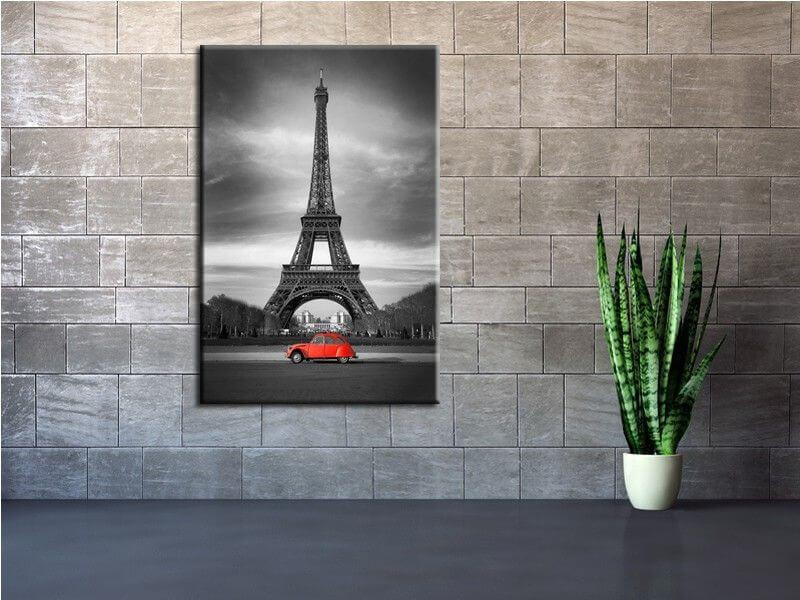 Tableau paris moderne tour eiffel tableaux urbains pas chers for Cadre tableau pas cher paris