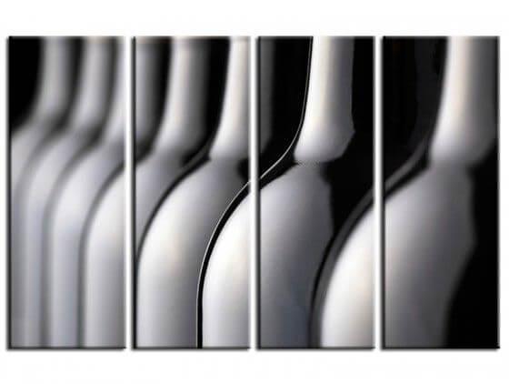 Tableau moderne bouteilles de vin