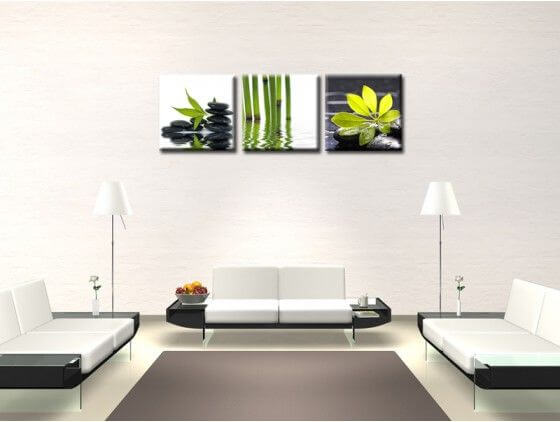 tableau triptyque zen pas cher achat de tableaux d co zen hexoa. Black Bedroom Furniture Sets. Home Design Ideas