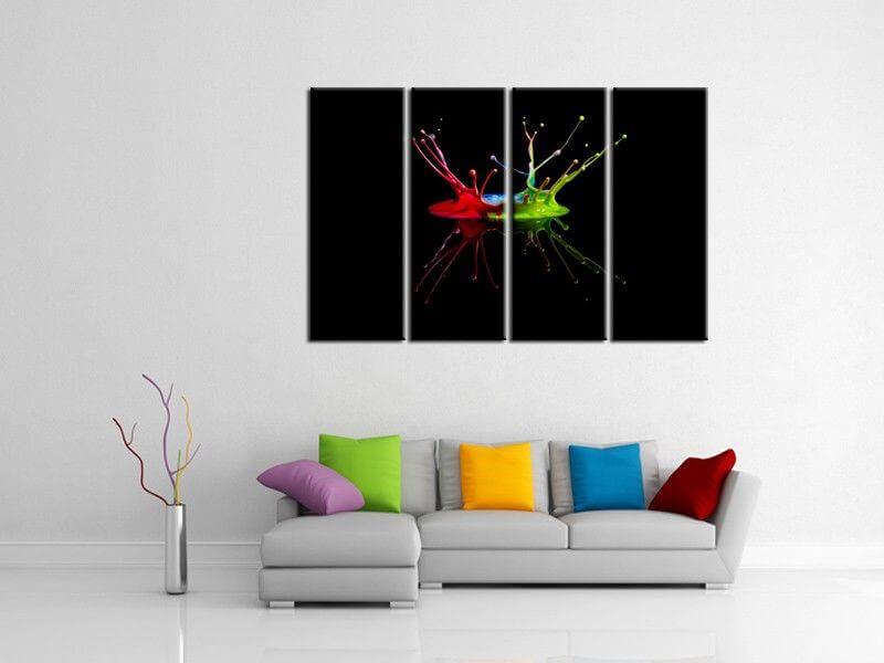 tableau design moderne color collection de tableaux pas chers. Black Bedroom Furniture Sets. Home Design Ideas