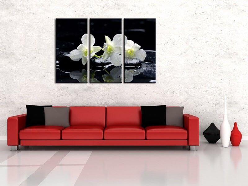 tableau d co zen fleur pas cher deco orchid e moderne hexoa. Black Bedroom Furniture Sets. Home Design Ideas