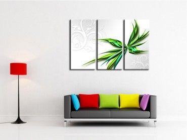 Tableau abstrait déco fleur design