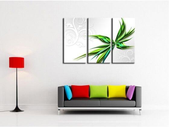 Tableau Decoratif Abstrait En Toile Plexi Et Aluminium Pas Cher