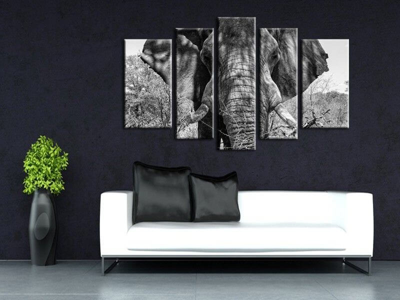 tableau moderne l phant d 39 afrique d coration int rieure. Black Bedroom Furniture Sets. Home Design Ideas