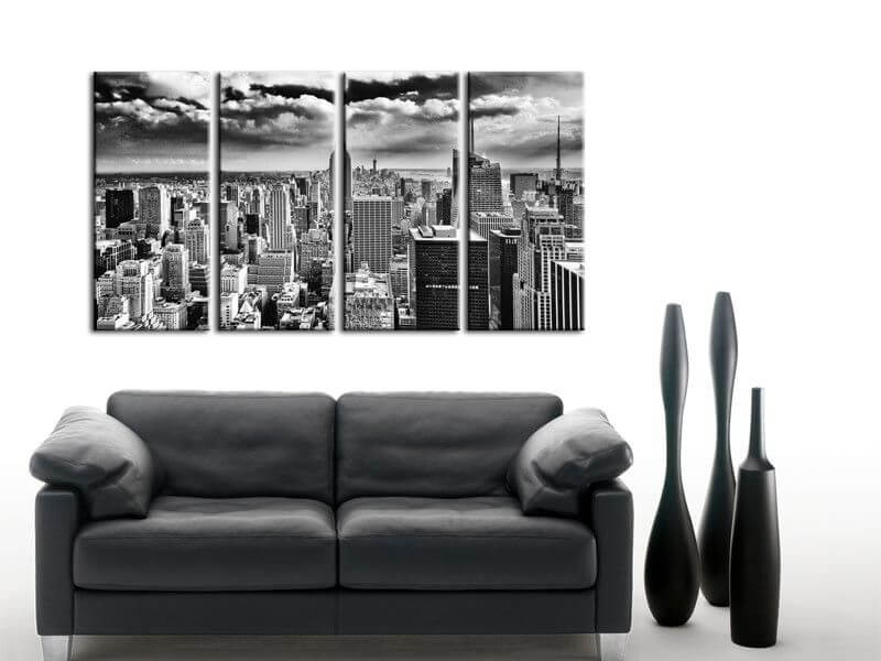 tableau noir et blanc new york collection de tableaux design. Black Bedroom Furniture Sets. Home Design Ideas