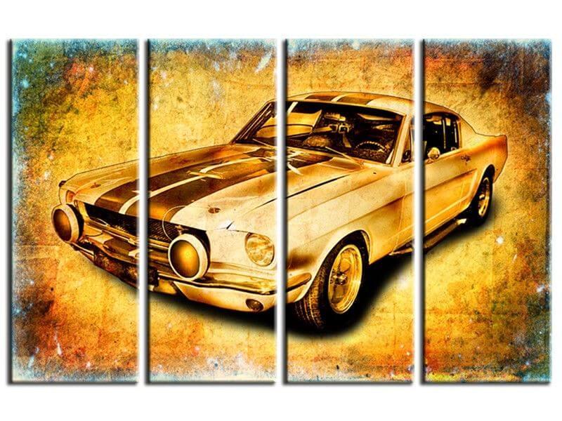 tableau xxl mustang pas cher d coration murale voiture. Black Bedroom Furniture Sets. Home Design Ideas