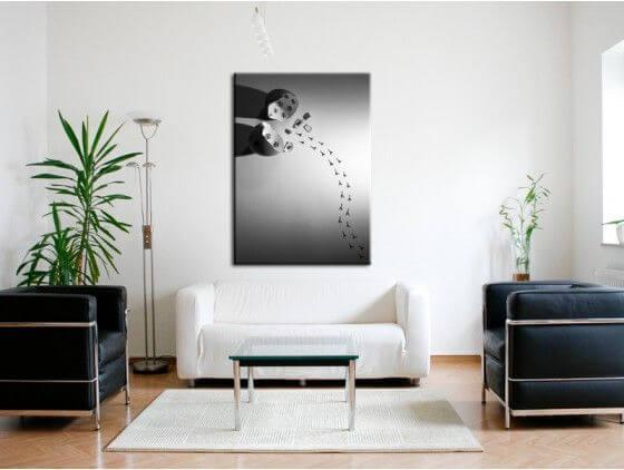tableau photo noir et blanc birth decoration murale hexoa. Black Bedroom Furniture Sets. Home Design Ideas