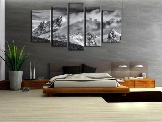 Stunning tableau mural blanc vert et noir images - Poster mural noir et blanc ...