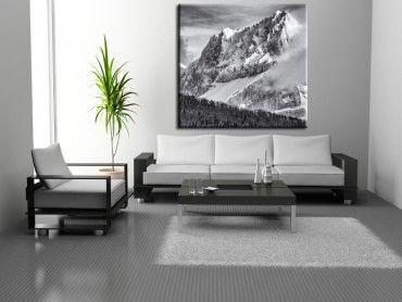 Tableau noir et blanc paysage Summit