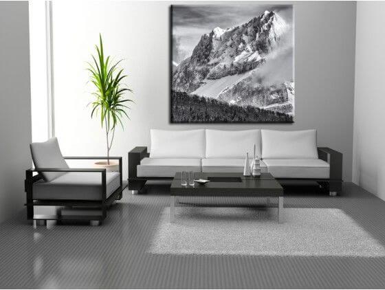 tableau photo de paysage summit decoration murale hexoa. Black Bedroom Furniture Sets. Home Design Ideas