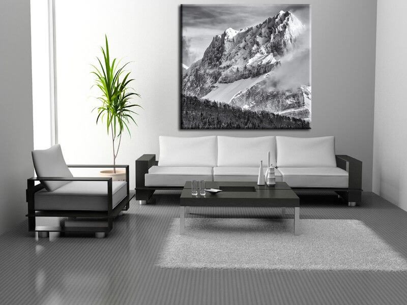 tableau photo de paysage summit decoration murale hexoa. Black Bedroom Furniture Sets. Home Design Ideas
