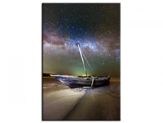 Tableau photo paysage Zanzibar boat