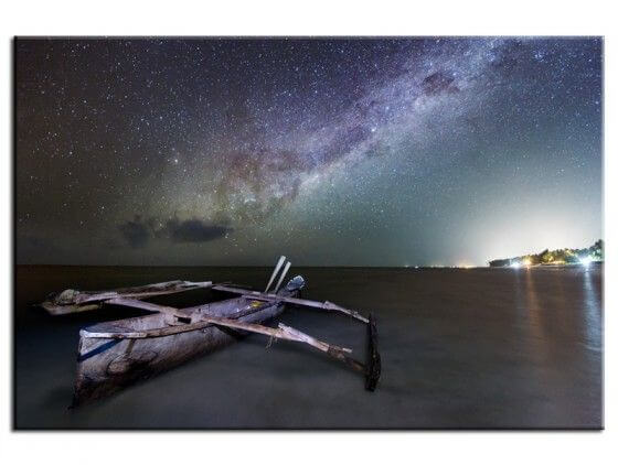 Tableau photo paysage Zanzibar milky way