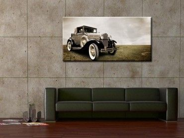 Tableau décoratif retro car