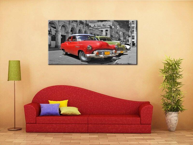 tableau voiture design havana en toile plexiglas et aluminium. Black Bedroom Furniture Sets. Home Design Ideas