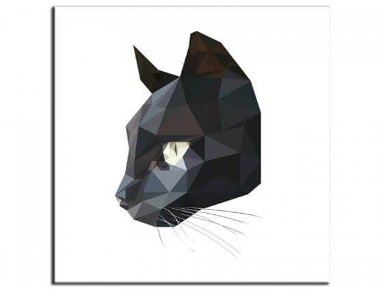 Tableau cadre deco chat noir