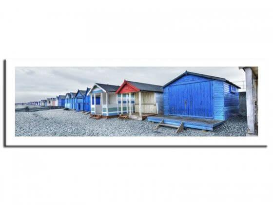 Tableau de paysage cabines de plages