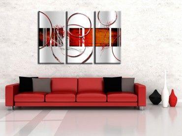 Tableau design abstrait cercles
