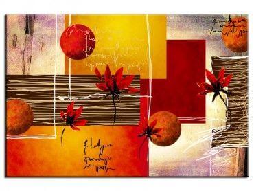 Tableau abstrait moderne déco fleurs
