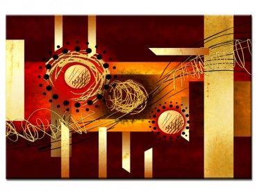 Tableau moderne peinture abstraite marron
