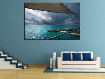Tableau photo sous la voile océan indien