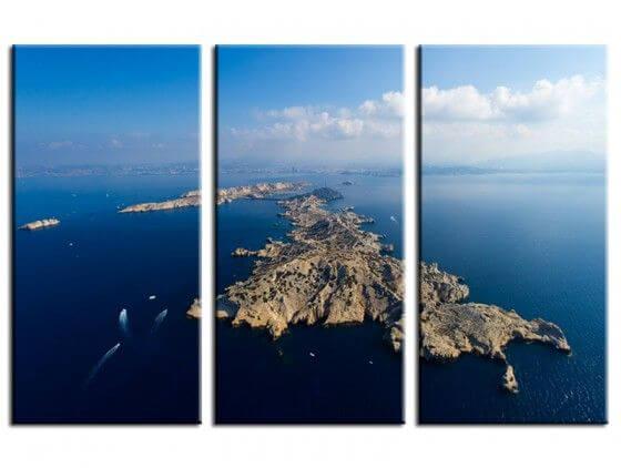 Tableau photo paysage aérienne îles Frioul