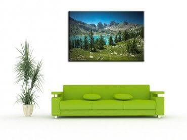 Tableau décoration lac d'allos