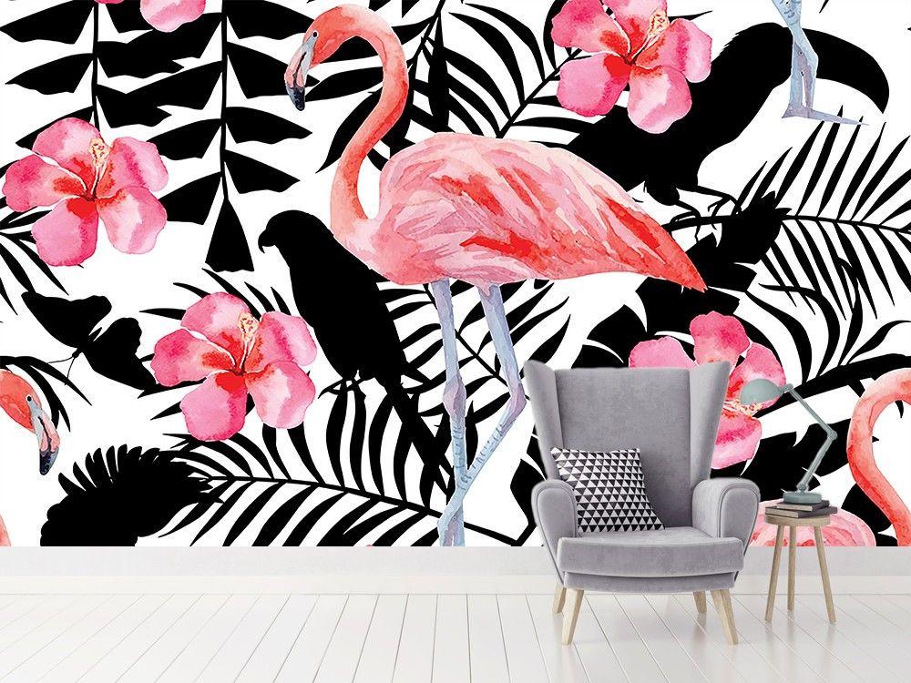 Papier Peint Tropical Deco Murale Exotique Pas Chere Hexoa Hexoa