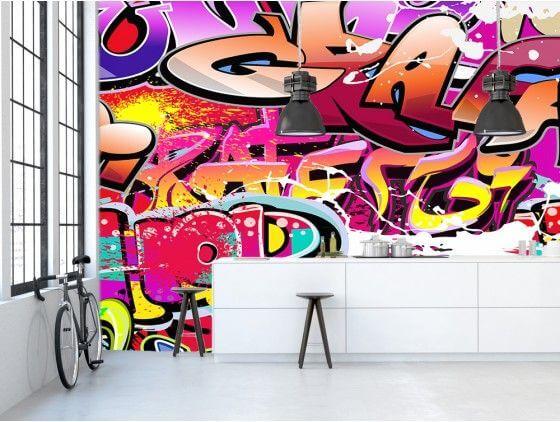papier peint tag color prix bas d coration murale hexoa. Black Bedroom Furniture Sets. Home Design Ideas