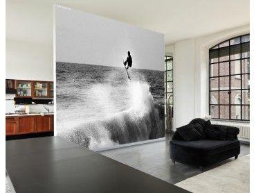Papier peint noir et blanc surf Hossegor