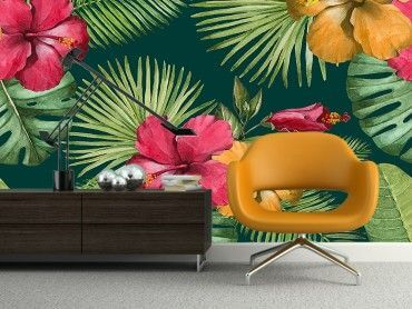 Papier peint tropical chic