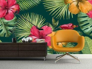 Papier peint tropical chic