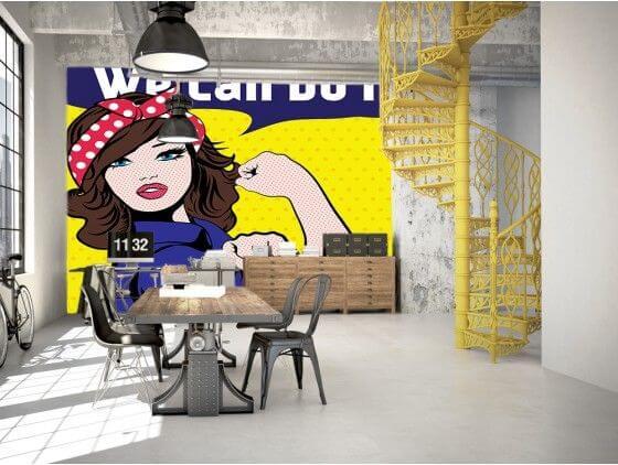 Papier peint pop art we can do it