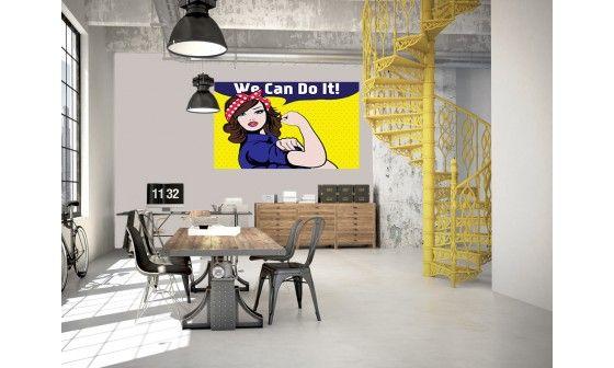 papier peint pop art we can do it pas cher deco murale hexoa. Black Bedroom Furniture Sets. Home Design Ideas