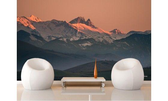 papier peint paysage montagne pic du midi d 39 ossau pas cher hexoa. Black Bedroom Furniture Sets. Home Design Ideas