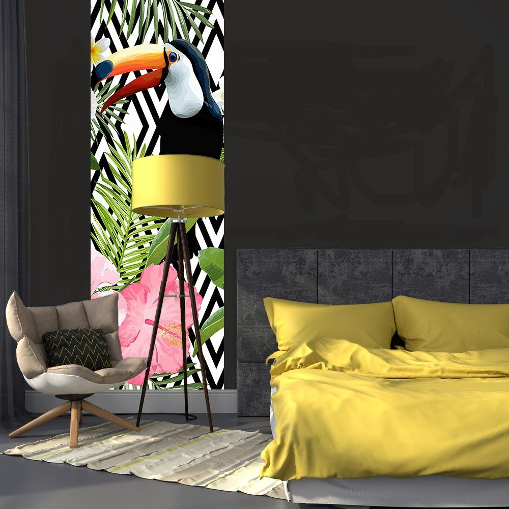 papier peint tropical fashion designs. Black Bedroom Furniture Sets. Home Design Ideas
