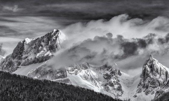 Papier Peint Deco Montagne Jarjatte En Noir Et Blanc A Prix Reduit
