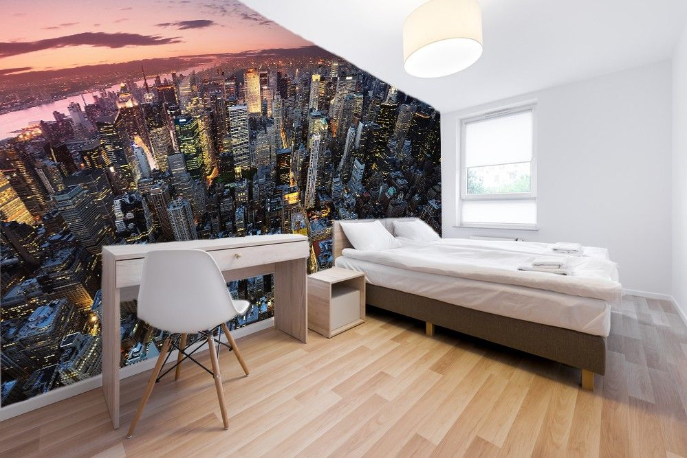 Papier peint trompe l oeil new york affordable sdm motif for Papier peint new york castorama