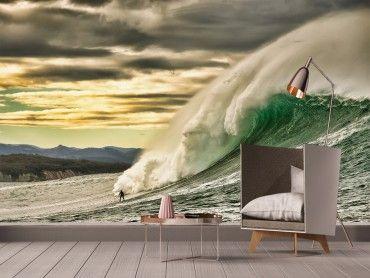 Papier peint surf session vague Belharra
